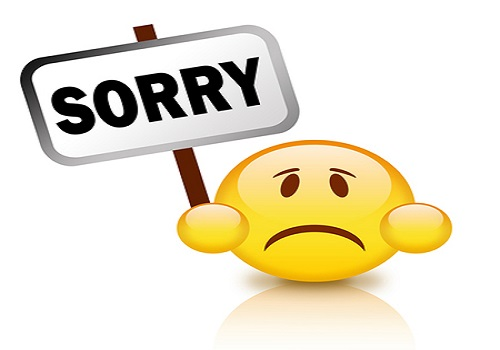Sorry Status with Emoticons