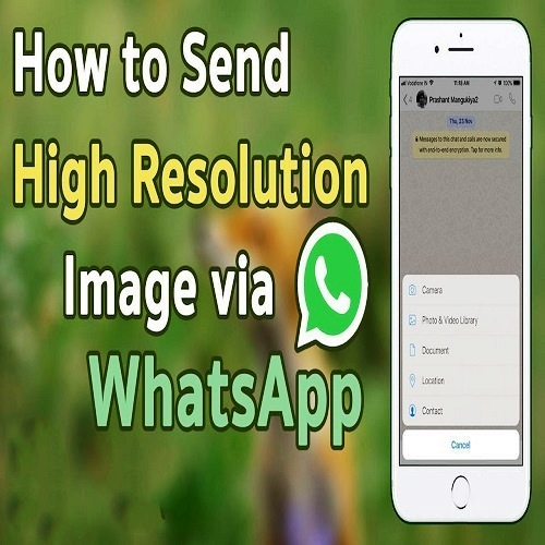 How to Send High Quality Photos through WhatsApp