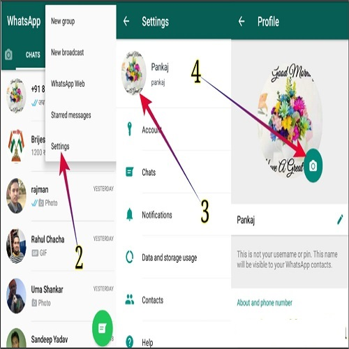 How To Change DP For Whatsapp