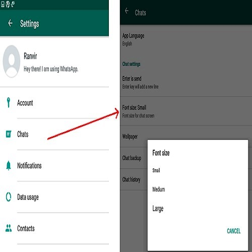 How To Change Font In WhatsappFor Android Users