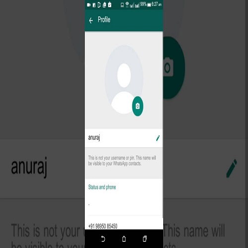 How To Change your Whatsapp Profile Pic