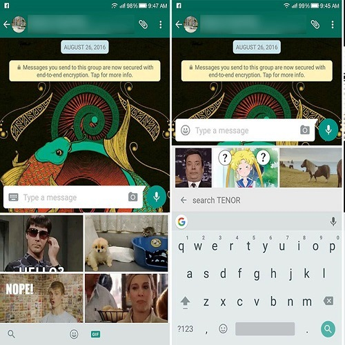 How to Send GIFs in WhatsApp on Android