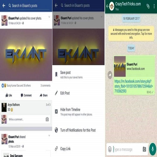 How to Share Facebook Videos to WhatsApp status?
