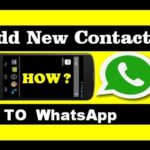 How to Add contacts in WhatsApp