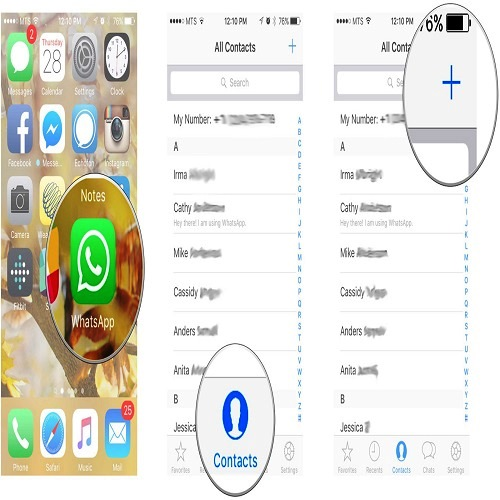 How to add contacts in WhatsApp(iOS)
