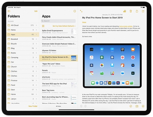 Apple Notes- (Best note taking app for iOS)