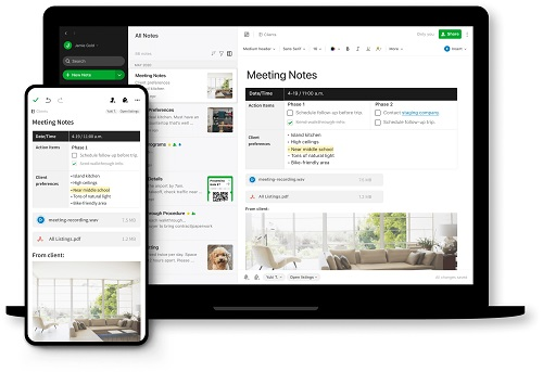 Evernote- (A competitor of OneNote)